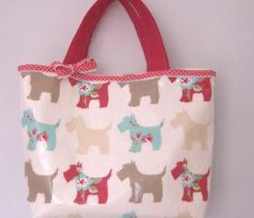 Scottie dog oilcloth bag